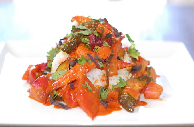 beet carrot thai style curry