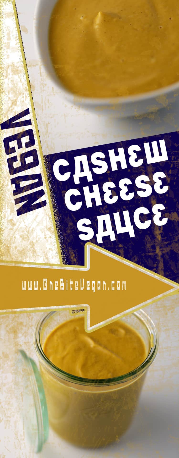 Vegan cashew cheese sauce. Cashew based cheese sauce made in a blender with butternut squash, miso, vegetable stock, and nutritional yeast.