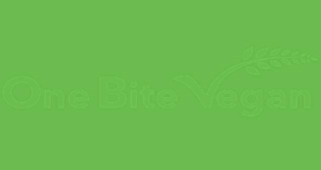Image result for one bite vegan LOGO