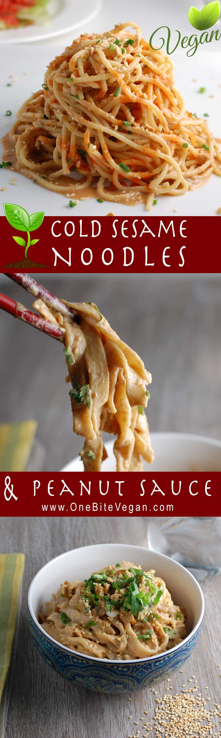 My best plant-based cold sesame noodles with peanut sauce recipe. Made with fresh or store-bought noodles it is vegan comfort food at its finest.