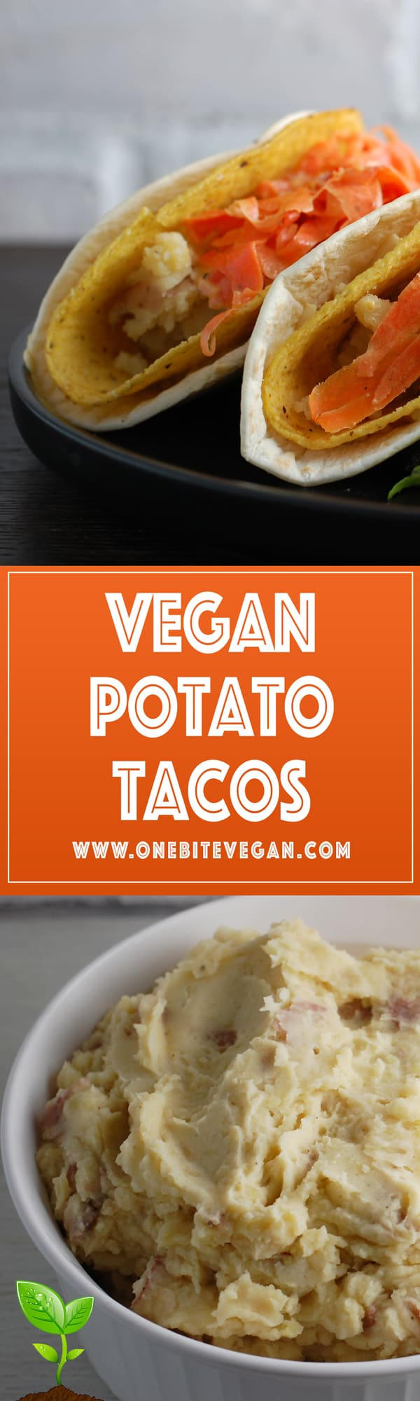 Vegan potato tacos with carrot slaw. A veganizedrecipe ofChef Ludo Lefebvre's dish shown in season 5 of Mind of a Chef.
