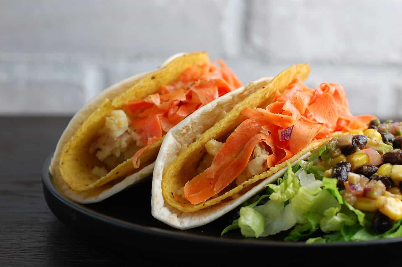 vegan potato tacos