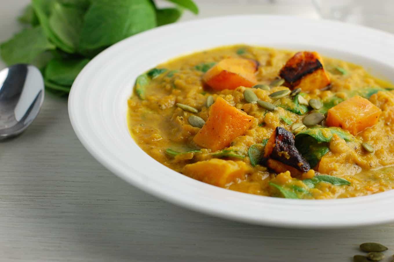 red lentil squash stew