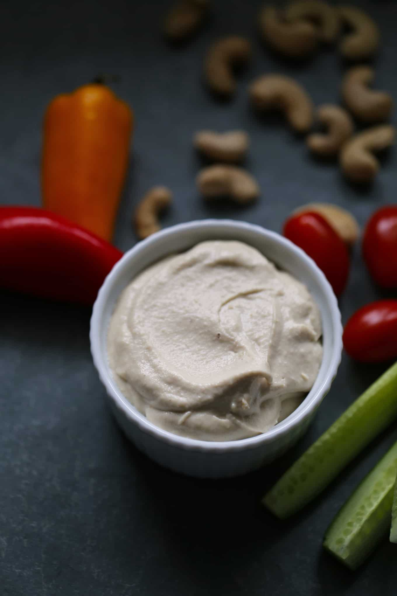 cashew cream sauce with vegetables